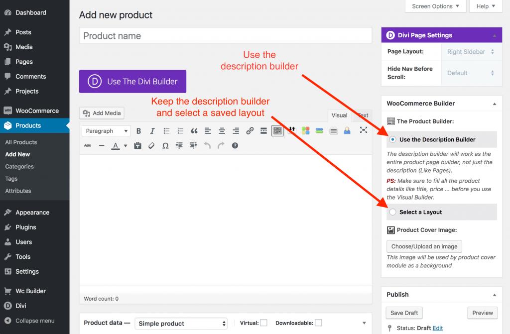 Build woocommerce product layout documentation divi - Divi builder woocommerce product page ...